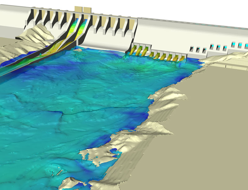 FLOW-3D CFD analysis of a hydropower dam