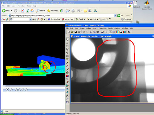 Metal casting defect validation
