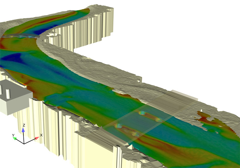 FLOW-3D is a powerful simulation tool to model rivers