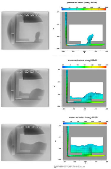 X-ray validation of a sand mold filling