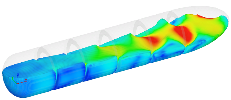 Aerospace sloshing CFD simulation