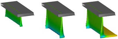 Curtain coating CFD