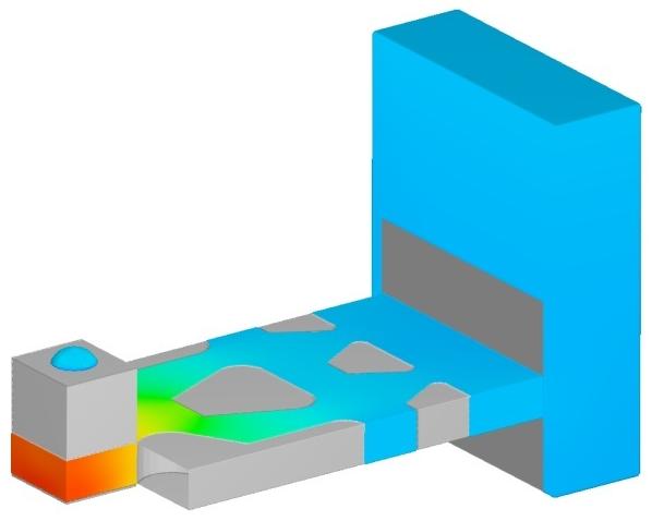 Ink-drop printer nozzle simulation