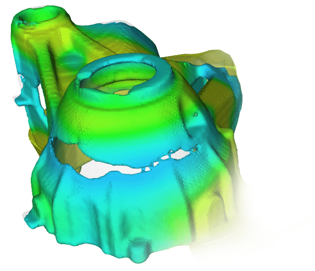 Low pressure die casting simulation