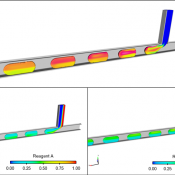 T-junction device multi-phase flow simulation