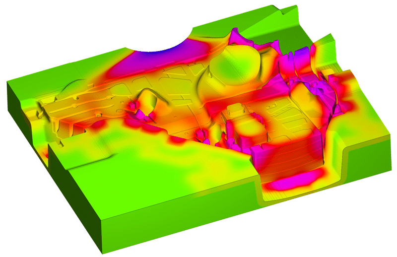 Thermal die cycling metal casting simulation