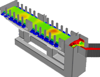 CFD feed chamber simulation
