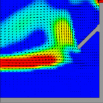 Predicted flow patterns with the Stamford Density Current Baffle