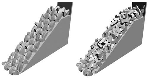 Emerged Breakwater - Accropode regular & Accropode irregular