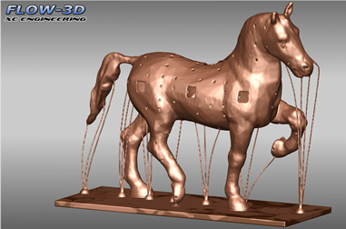 Leonardo da vinci bronze horse casting