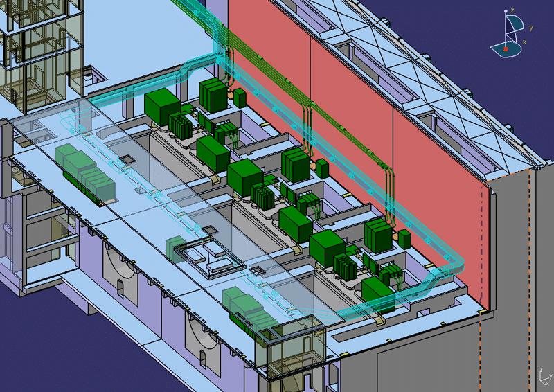 Simulating HVAC System Designs for a Powerhouse Air