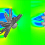 Simulating flow around an individual mussel clump on a rope