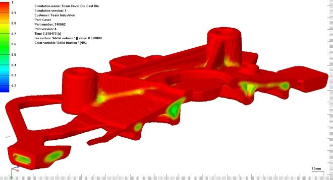Solidification shrinkage holes simulation