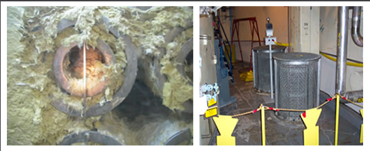 Sump strainers and debris