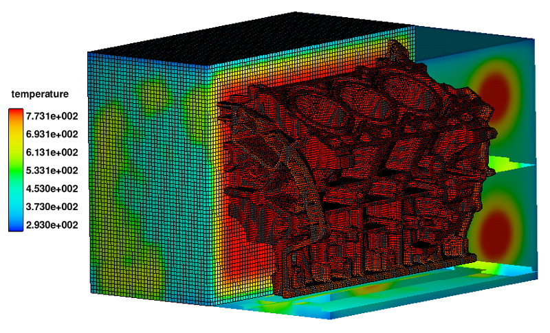 Thermal stress defects simulation