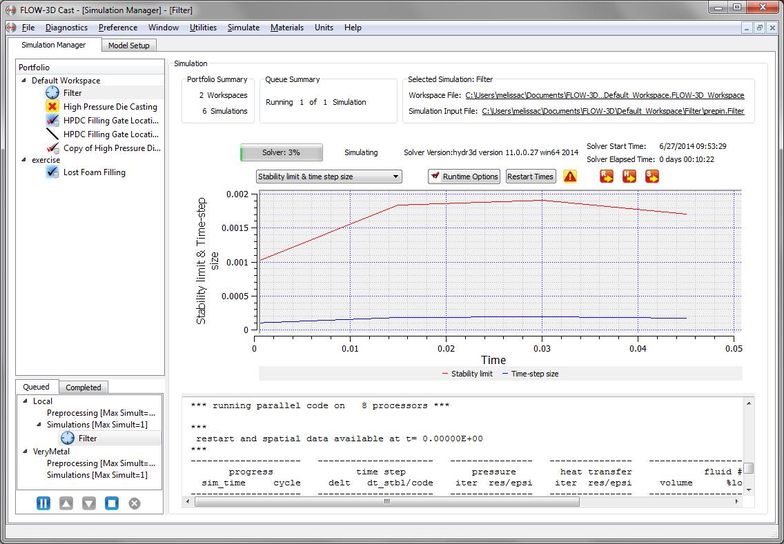 FLOW-3D Cast Simulation Manager