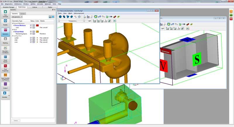 FLOW-3D Cast model setup