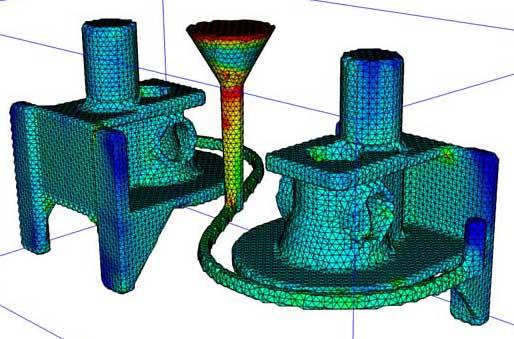 Thermal stress evolution simulation