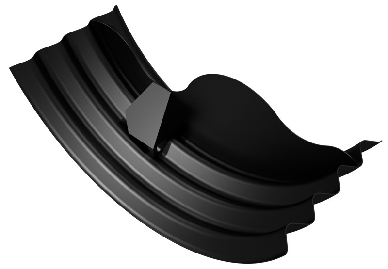 CAD rendered image of the arch baffle design set