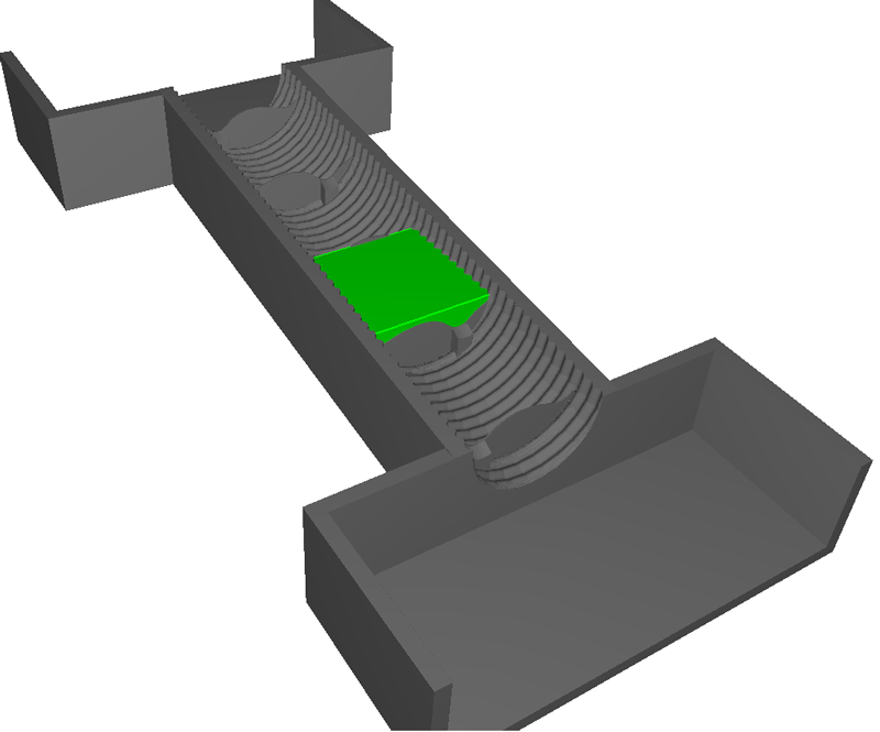 Imported CAD geometry used in the simulations