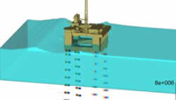 Mooring lines model and wave absorbing layer