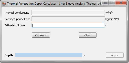 Thermal Penetration Depth Calculator