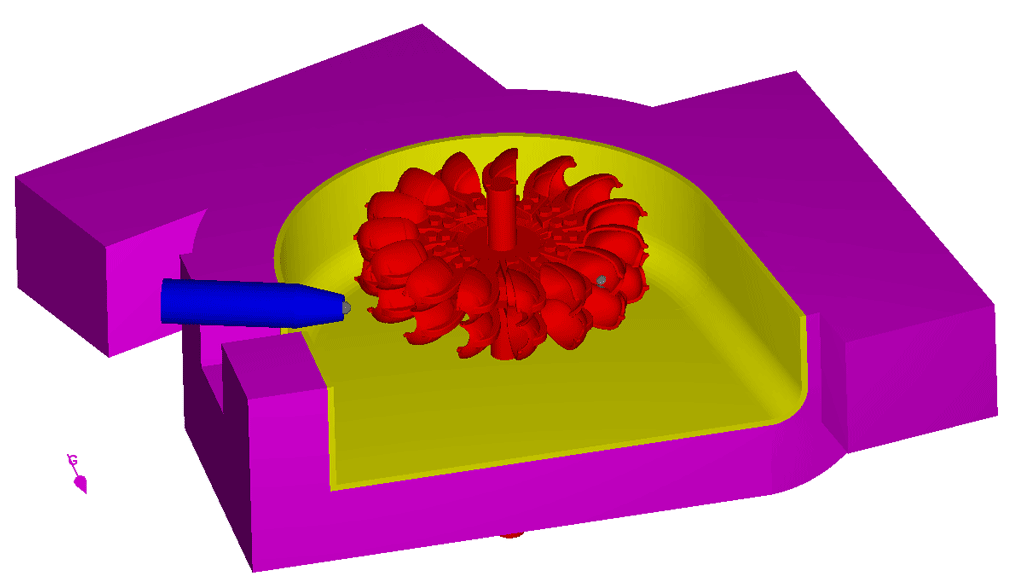 Pelton turbine geometry