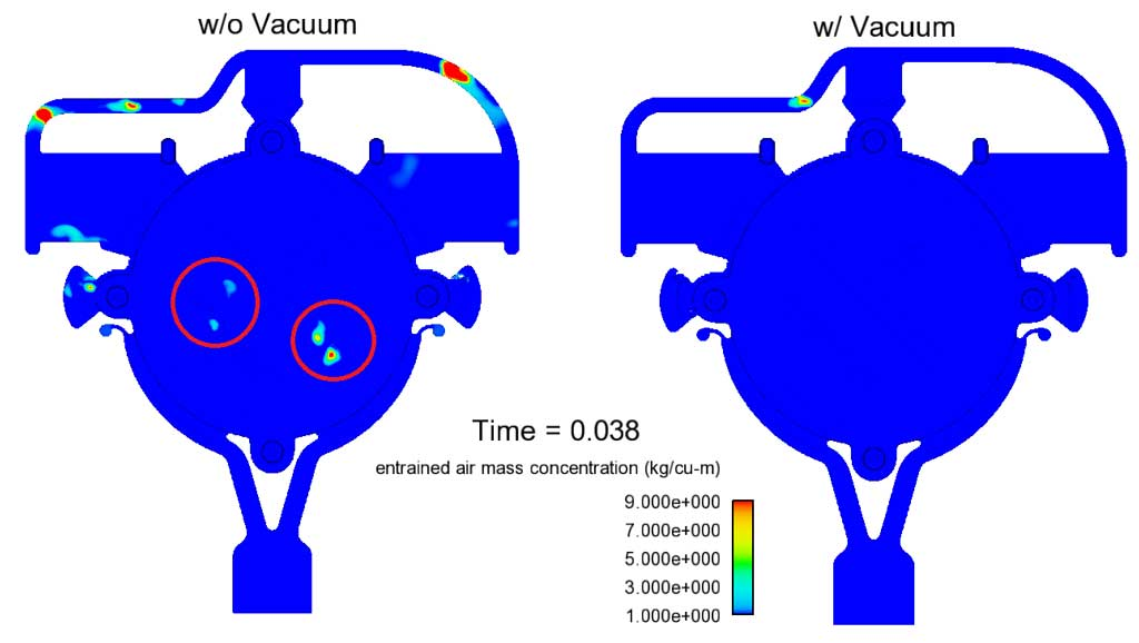 How to set up vacuum in a die casting