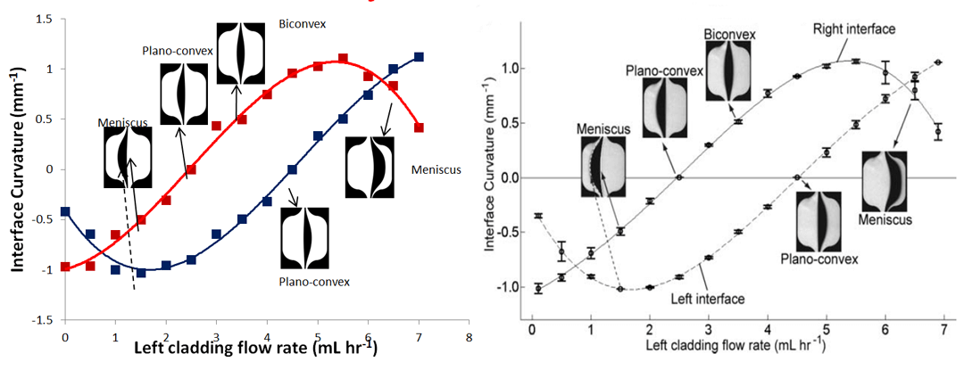 FLOW-3D vs. experimental results - fixed core flow rate