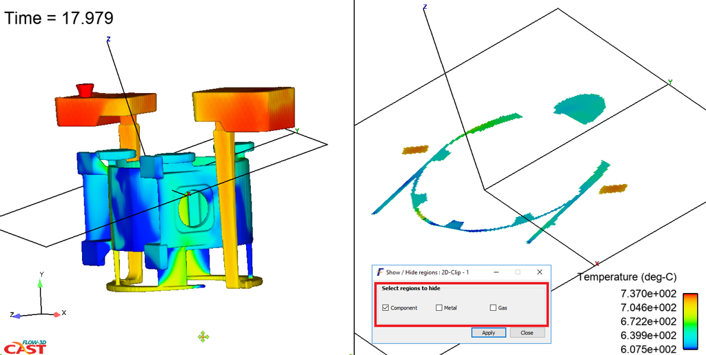 Defect identification in FLOW-3D CAST