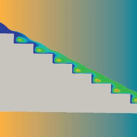 FLOW-3D (x) case study - stepped spillway