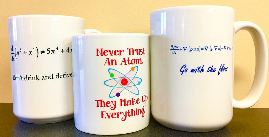 Funny physics coffee mugs