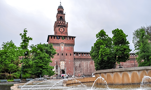 Castello Sforzesco - in the heart of Milan city centre. Courtesy Shutterstock.