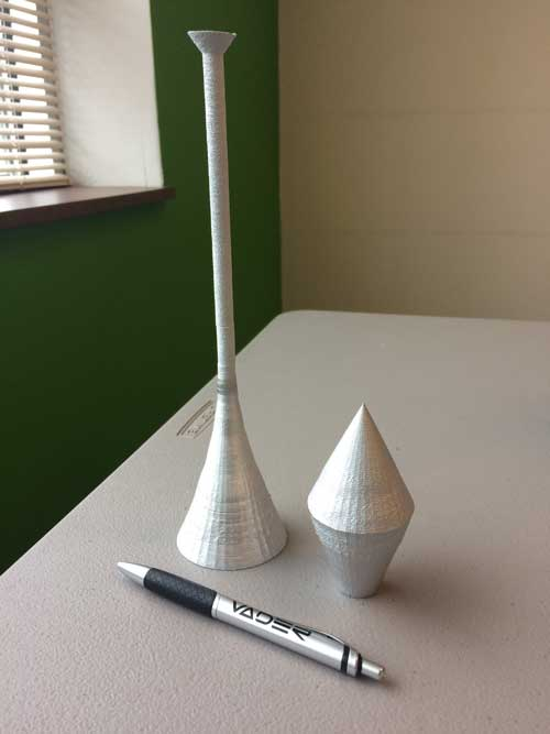 Aluminum printed 3d structures vader systems