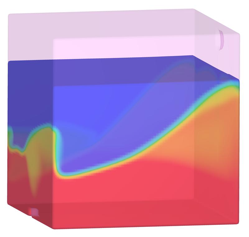 Oil water separator simulation