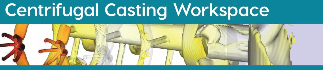 Centrifugal casting workspace