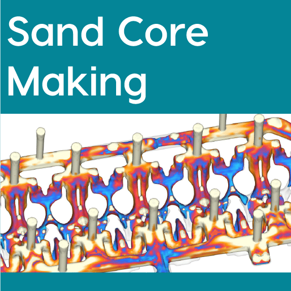 FLOW-3D CAST Sand Core Making Workspace