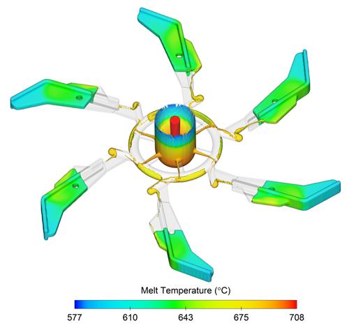 Centrifuge casting FLOW-3D CAST