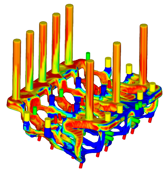 Water jacket core sand density simulation