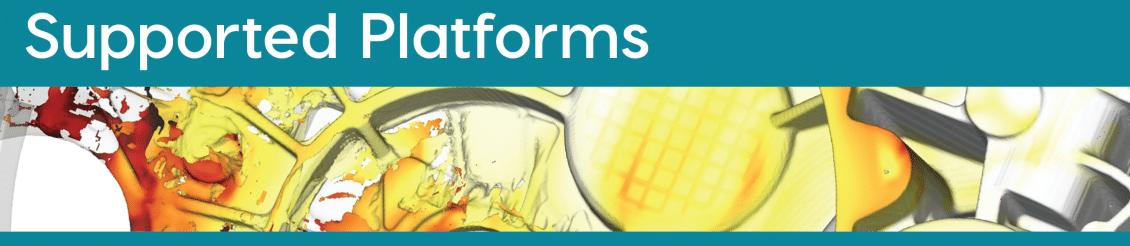 FLOW-3D CAST supported platforms