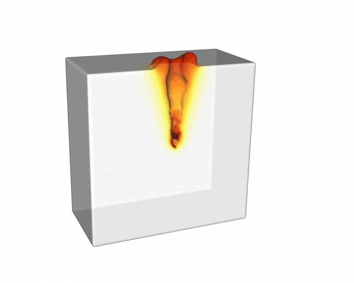 Laser spot weld - deep penetration