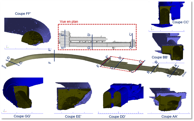 3D CAD model covered stream