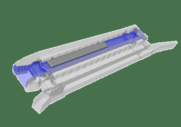 FLOW-3D model of lock no.1