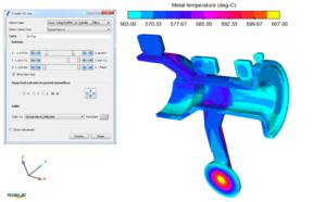 3D clip showing temperature profile