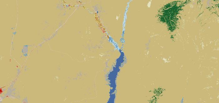 Example of overlay of terrain in FLOW-3D v11.1