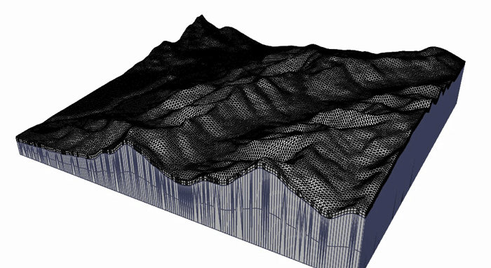 Topography for CFD model