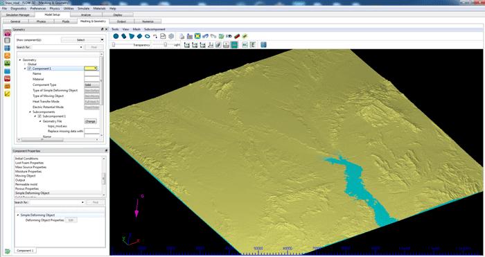Terrain import in FLOW-3D